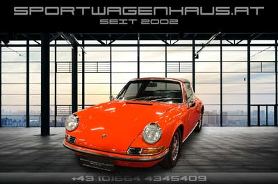 Porsche 911 911 T 2.2 Targa, restauriert, Blutorange! bei Sportwagenhaus.at Scheuringer Sportwagen in